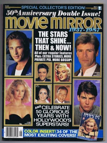 ORIGINAL Vintage May 1987 Movie Mirror Magazine Marilyn Monroe Frank Sinatra