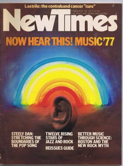 ORIGINAL Vintage New Times Magazine February 18 1977 Steely Dan