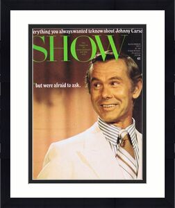 ORIGINAL Vintage November 1973 Show Magazine Johnny Carson
