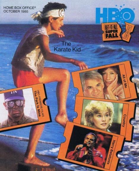 ORIGINAL Vintage October 1985 HBO Magazine Karate Kid Ralph Macchio
