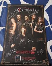 Originals cast autographed signed auto 2014 SDCC poster Morgan Gillies Tonkin +4