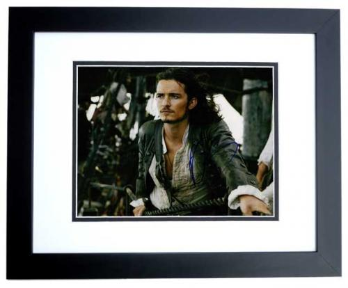 Orlando Bloom Signed - Autographed Pirates of the Caribbean 11x14 inch Photo BLACK CUSTOM FRAME - Guaranteed to pass PSA or JSA
