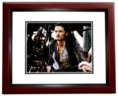 Orlando Bloom Signed - Autographed Pirates of the Caribbean 11x14 inch Photo MAHOGANY CUSTOM FRAME - Guaranteed to pass PSA or JSA