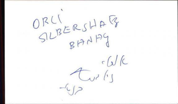 "ORLY SILBERSATZ (ZILBERSATZ) BROKEN WINGS Signed 3""x5"" Index Card"