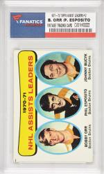 Bobby Orr & Phil Esposito Boston Bruins 1971-72 Topps Assist Leaders #2 Card