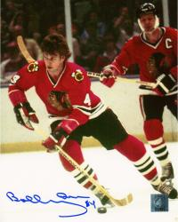 Bobby Orr Chicago Blackhawks Autographed 8'' x 10'' Skating With Helmet Off Photograph - Mounted Memories