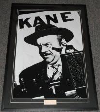 Orson Welles Signed Framed 30x40 Citizen Kane Poster Display JSA