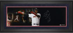 "David Ortiz Boston Red Sox Framed Autographed 10"" x 30"" Filmstrip Photograph with Multiple Inscriptions-Limited Edition of 12"