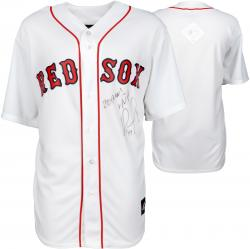David Ortiz Boston Red Sox 2013 World Series Champions Autographed Home World Series Majestic Replica Jersey with 2013 WS MVP Inscription - Mounted Memories