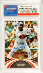 David Ortiz Boston Red Sox Autographed 2005 Upper Deck #13 Card with 2013 W.S. Champs Inscription