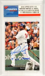 David Ortiz Boston Red Sox Autographed 2010 Upper Deck #92 Card with 2013 W.S. Champs Inscription