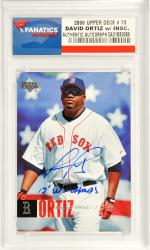 David Ortiz Boston Red Sox Autographed 2006 Upper Deck #73 Card with 2013 W.S. Champs Inscription - Mounted Memories