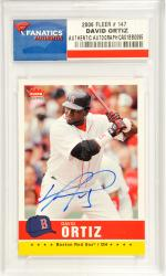 David Ortiz Boston Red Sox Autographed 2006 Fleer #147 Card - Mounted Memories