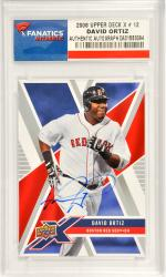 David Ortiz Boston Red Sox Autographed 2008 Upper Deck X #12 Card
