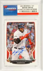 David Ortiz Boston Red Sox Autographed 2013 Bowman #147 Card - Mounted Memories
