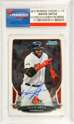 David Ortiz Boston Red Sox Autographed 2013 Bowman Chrome #170 Card - Mounted Memories