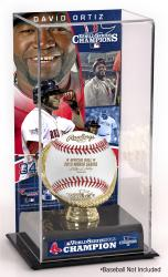 David Ortiz Boston Red Sox 2013 MLB World Series Champions Gold Glove with Image Display Case - Mounted Memories