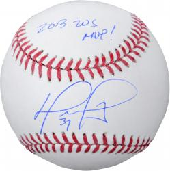 David Ortiz Boston Red Sox Autographed Baseball with 2013 WS Champs Inscription