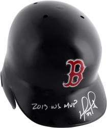David Ortiz Boston Red Sox Autographed Replica Batting Helmet with 13 WS MVP Inscription - Mounted Memories