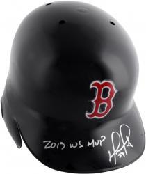 David Ortiz Boston Red Sox Autographed Replica Batting Helmet with 13 WS MVP Inscription