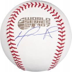 David Ortiz Boston Red Sox 2007 World Series Autographed Baseball