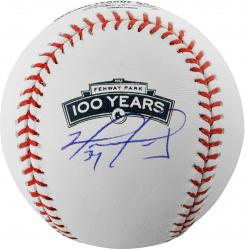 David Ortiz Boston Red Sox Autographed 100th Anniversary Fenway Park Baseball