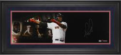 David Ortiz Boston Red Sox Framed Autographed 10'' x 30'' Filmstrip Photograph-Limited Edition of 34 - Mounted Memories