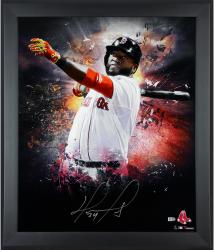 David Ortiz Boston Red Sox Framed Autographed 20'' x 24'' In Focus Photograph-Limited Edition of 34 - Mounted Memories