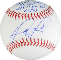 David Ortiz Boston Red Sox Autographed Baseball with Multiple Inscriptions-Limited Edition of 34