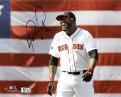 David Ortiz Boston Red Sox Autographed 8'' x 10'' Smiling Photograph - Mounted Memories