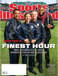 David Ortiz Boston Red Sox Autographed First Responders Sports Illustrated Magazine - Mounted Memories