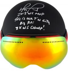 David Ortiz Boston Red Sox Autographed Helmet & Goggles