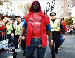 David Ortiz Boston Red Sox 2013 World Series Champions Autographed 8'' x 10'' Parade Photograph - Mounted Memories