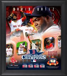 "David Ortiz Boston Red Sox 2013 MLB World Series Champions Framed 15"" x 17"" Collage with Game-Used Baseball"