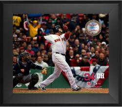 David Ortiz Boston Red Sox Framed 20'' x 24'' Gamebreaker Photograph with Game-Used Ball - Mounted Memories