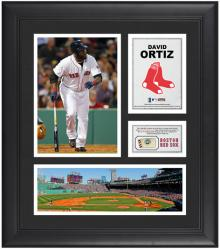 "David Ortiz Boston Red Sox Framed 15"" x 17"" Collage with Game-Used Baseball - Mounted Memories"