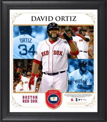 David Ortiz Boston Red Sox Framed 15'' x 17'' Collage with Piece of Game-Used Ball - Mounted Memories