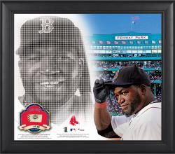 "David Ortiz Boston Red Sox Framed 15"" x 17"" Mosaic Collage with Game-Used Baseball-Limited Edition of 250"