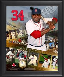 David Ortiz Boston Red Sox Framed 16'' x 20'' Film Strip Composite with Piece of Game-Used Ball-Limited Edition of 500 - Mounted Memories