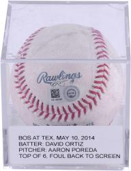 ORTIZ, DAVID GAME USED (5/10/14 V TEX)FOUL TO SCRN BSBL(MLB) - Mounted Memories