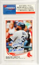 David Ortiz Boston Red Sox Autographed 2013 Topps #US177 Card with 2013 W.S. MVP Inscription - Mounted Memories