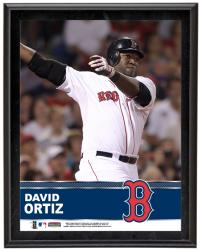 David Ortiz Boston Red Sox Sublimated 10.5'' x 13'' Plaque - Mounted Memories