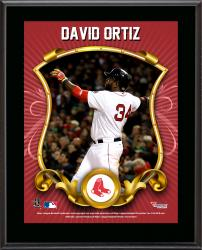 David Ortiz Boston Red Sox Sublimated 10.5'' x 13'' Stylized Plaque - Mounted Memories
