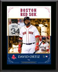 David Ortiz Boston Red Sox Sublimated 10.5'' x 13'' Composite Plaque - Mounted Memories