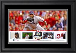 David Ortiz Boston Red Sox Framed Panoramic with Piece of Game-Used Ball - Limited Edition of 500 - Mounted Memories