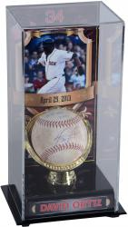 David Ortiz Boston Red Sox Autographed Game-Used 4/25/13 Baseball & Display Case with Stats Inscription-Limited Edition of 1