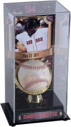 David Ortiz Boston Red Sox Autographed Game-Used 5/23/13 Baseball & Display Case with Stats Inscription-Limited Edition of 1 - Mounted Memories