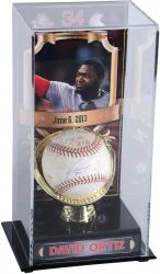 David Ortiz Boston Red Sox Autographed Game-Used 6/6/13 Baseball & Display Case with Stats Inscription-Limited Edition of 1