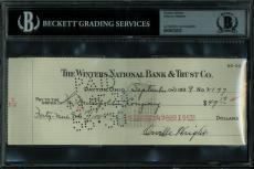 Orville Wright Signed Personal Check Dated September 21 1939 PSA/DNA Slabbed