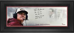 Tom Osborne Nebraska Cornhuskers Framed Autographed 10'' x 30'' The General Photograph with Multiple Inscription-Limited Edition of 12 - Mounted Memories